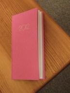 my 2012 diary (pink! yay!)