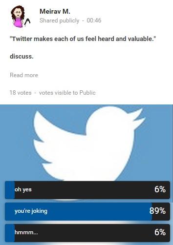my twitter poll