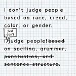 not judging