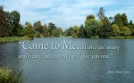 come to me (Matthew 11v28)