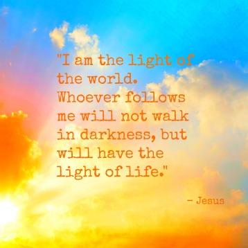 John 8v12 light of the world